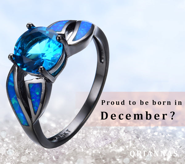 December Birthstone Opal & CZ ring