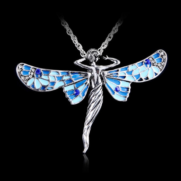 *Premium* Celtic Rhinestone Angel Wings Necklace