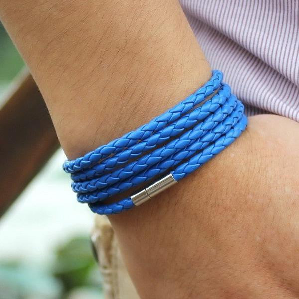 5 Laps Unisex Leather Bracelet