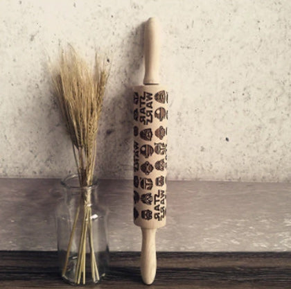 2018 Christmas Embossing Rolling Pin