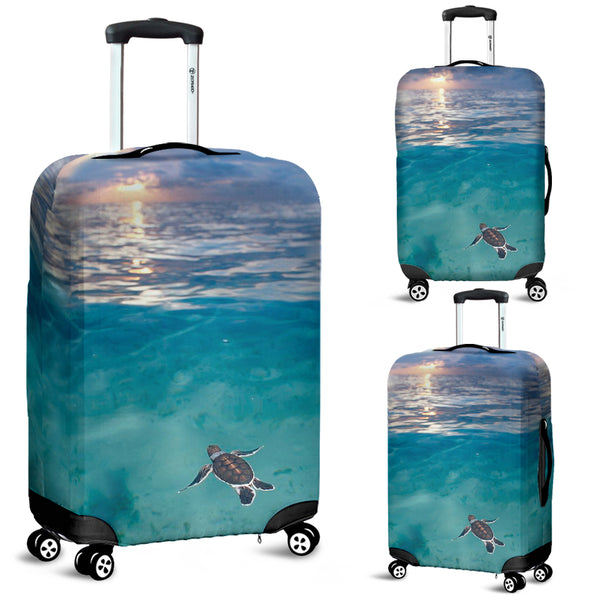 Baby Green Sea Turtle Luggag ecover