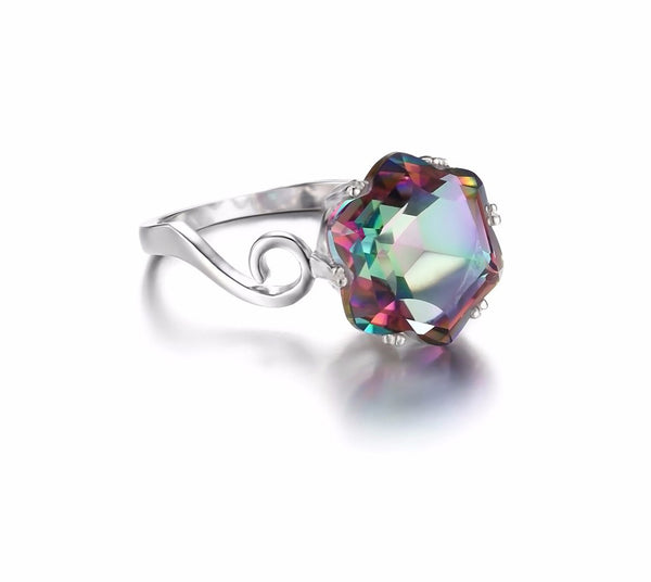 Mystic Topaz November Birthstone Ring