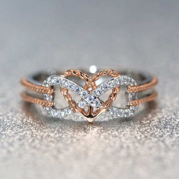 Love You Forever Promise Infinity Heart Valentine Ring