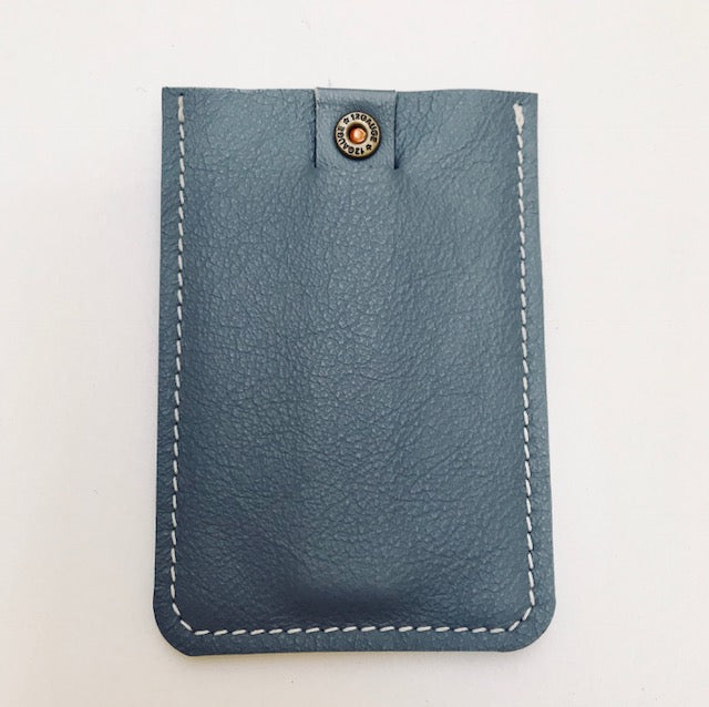 Wally Wallet With Bullet Detailing - Dove Grey