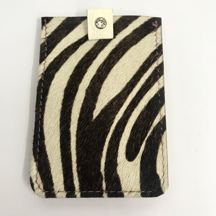 Wallet - Zebra Print & Blush