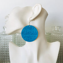 Sky Blue Merino Disco Earings
