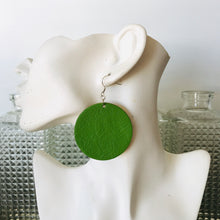 Kermit Green Disco Earings