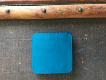Coasters - Tan & Bright Blue - Reversable