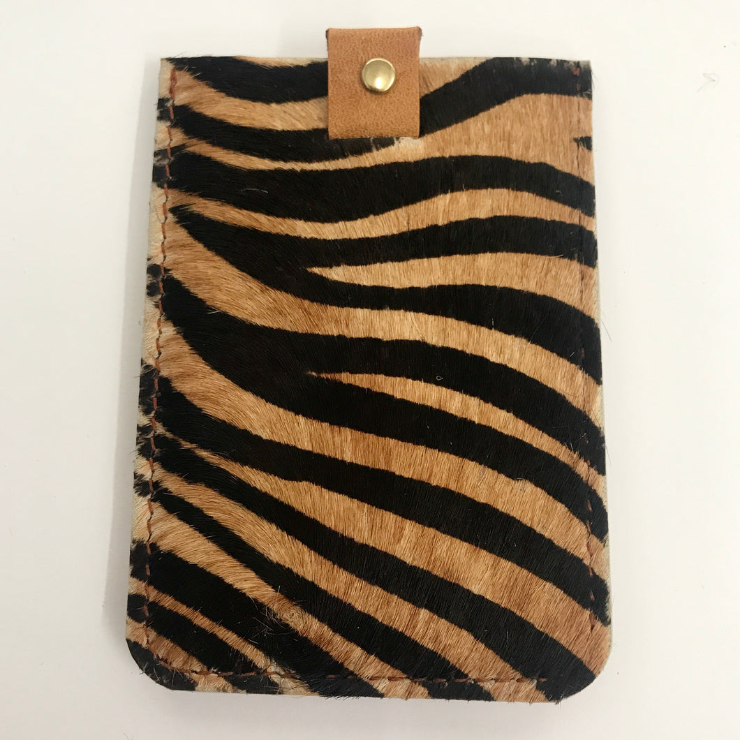 Wallet - Tan Zebra
