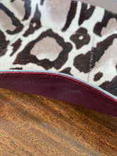 Large Cheeta Print fur & Plum
