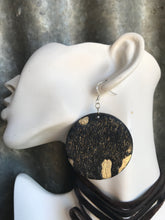 Black & Gold Foil Disco Earings
