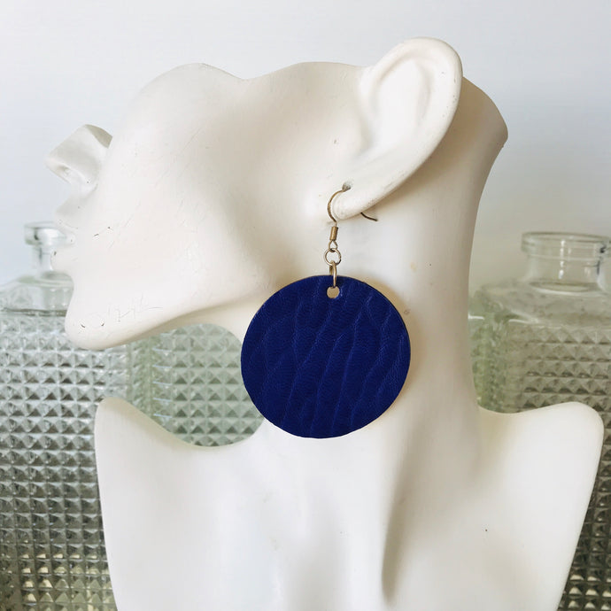 Royal Blue Merino Earings
