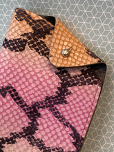Isaac Glasses Case - Embossed Pink Snake