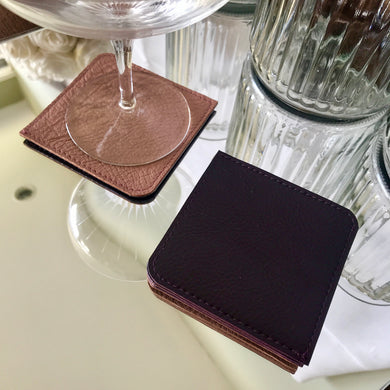 Coasters - Blush & Aubergine - Reversable