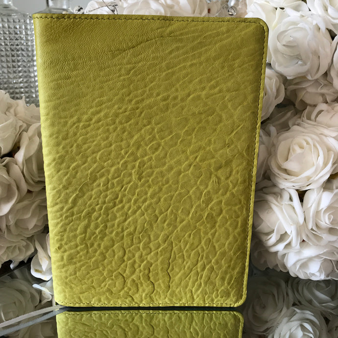 Jotta Journal - Chartreuse Merino Leather