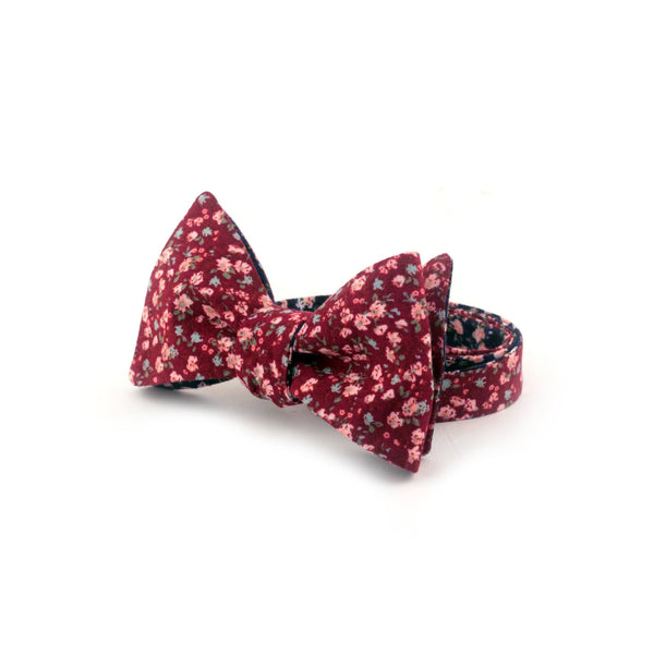 """Flover Wine"" Reversible Bow Tie - Unique."