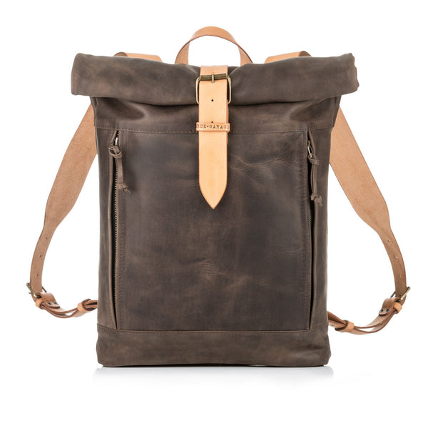 Highway Backpack (Brown/Light Straps) - Unique.