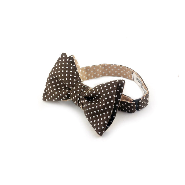"""Coffee Mate"" Reversible Bow Tie - Unique."