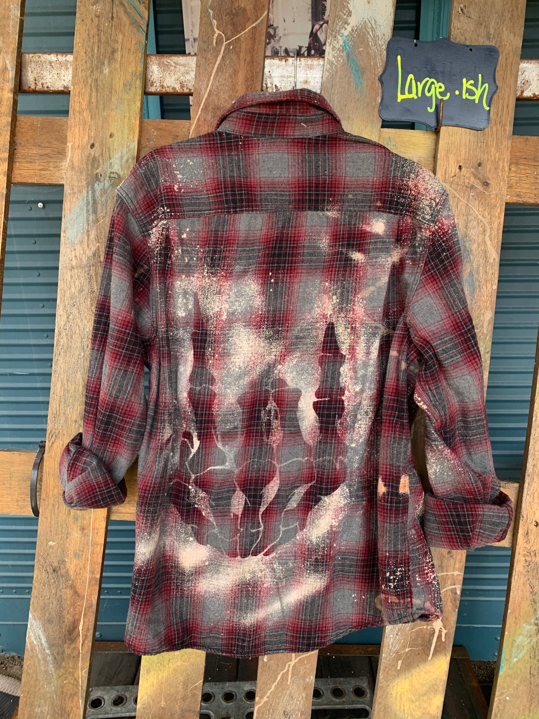 Large Rock On shadow Flannel