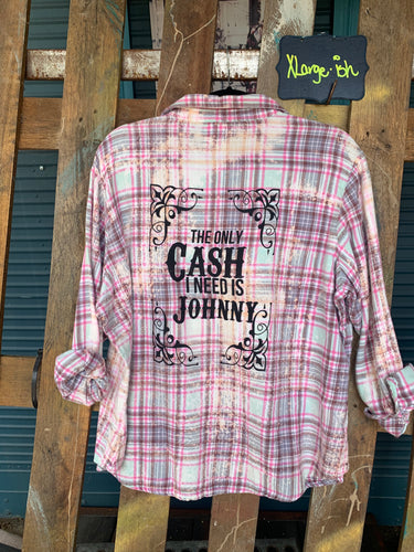 XLarge Cash Silkscreened Flannel