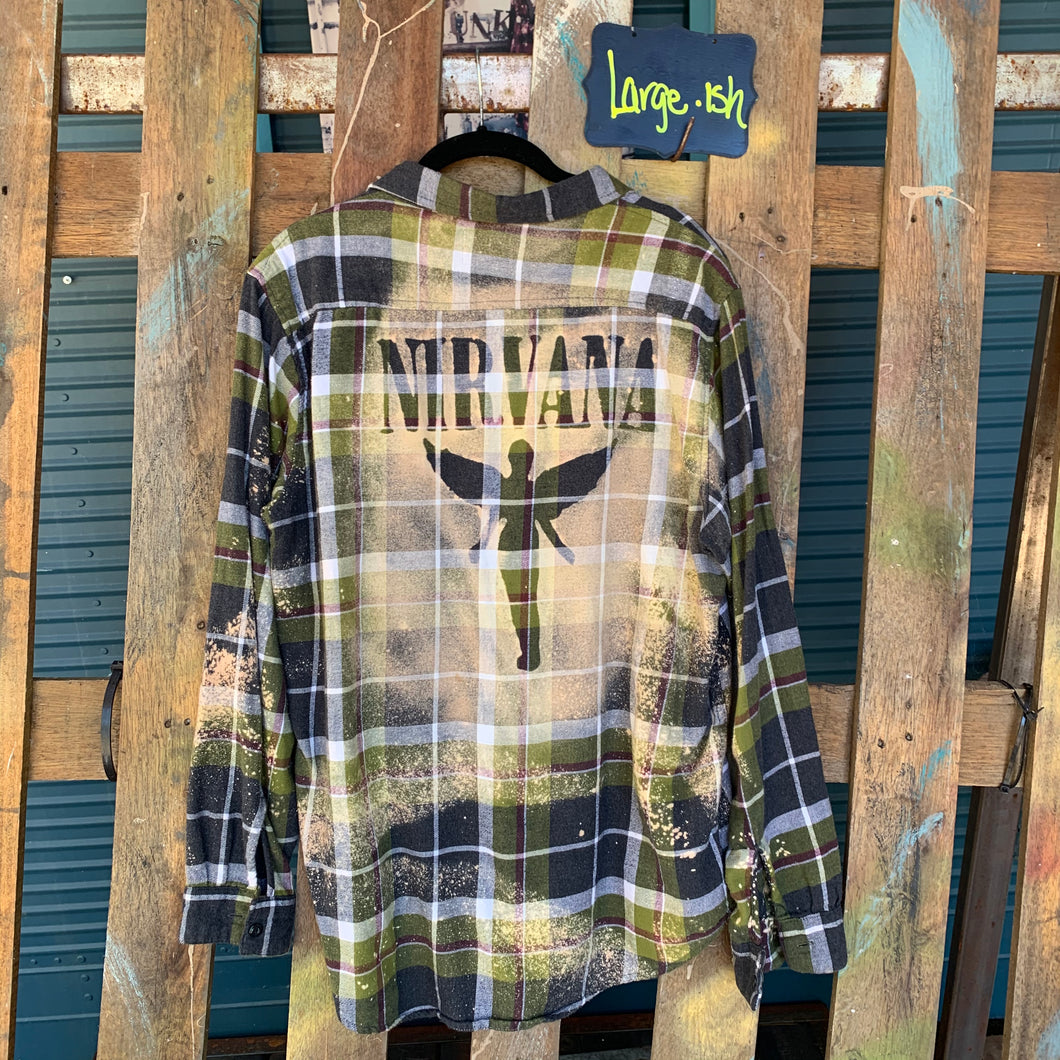 Large Nirvana Shadow Flannel