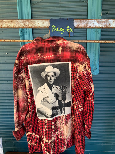 XXL Hank Williams Sr. Patch Flannel