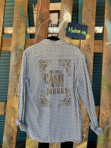 Medium Cash Silkscreened Flannel