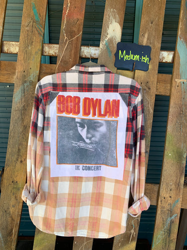 Medium Bob Dylan Patch Flannel featured