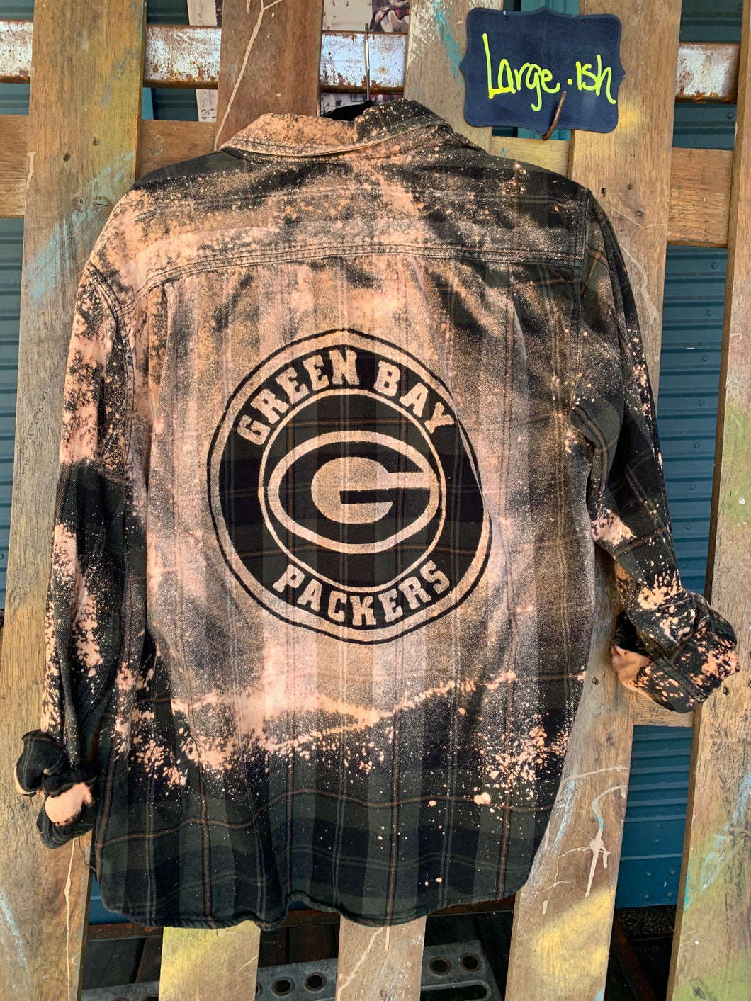 Large Green Bay Packers Shadow Flannel