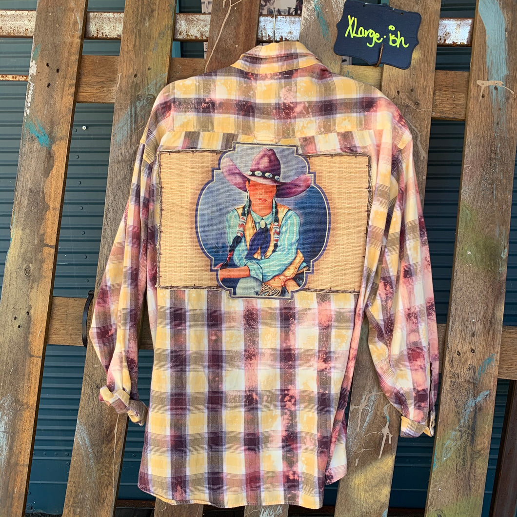 XLarge cowgirl tapestry Flannel