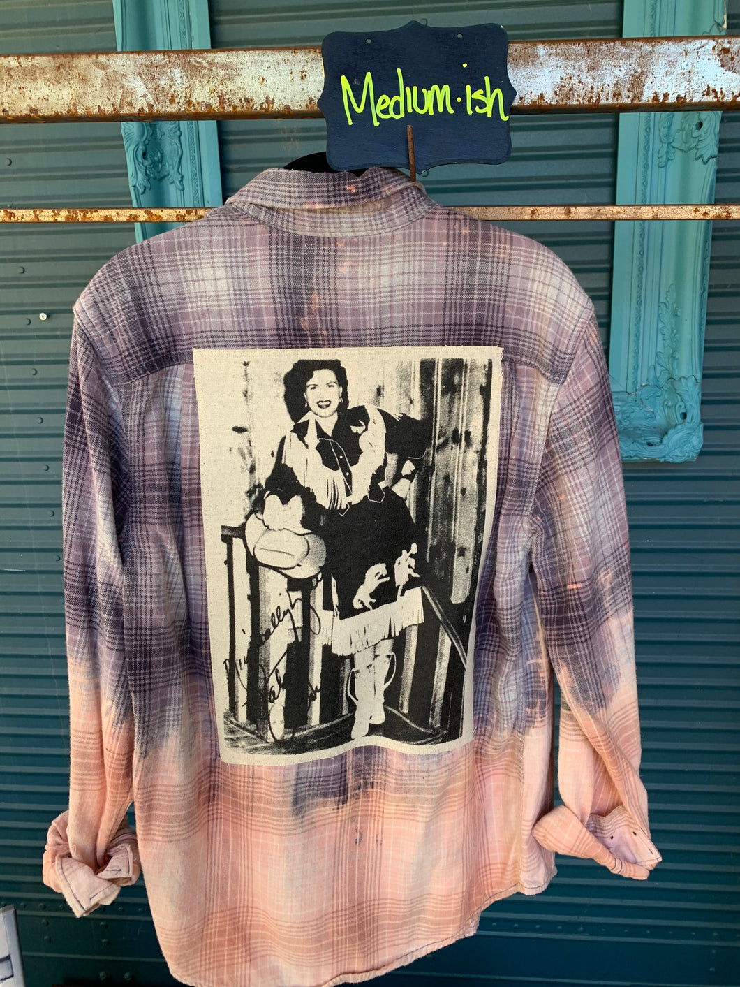 Medium Patsy Cline Patch Flannel