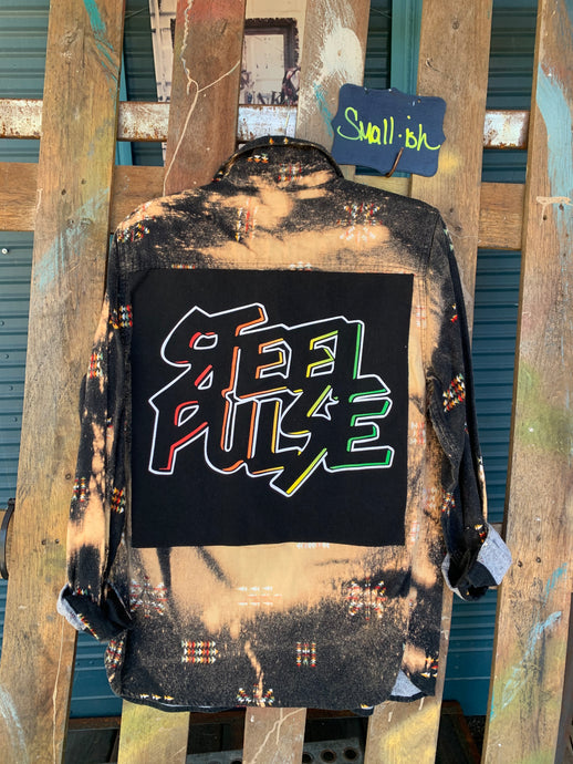 Small Steel Pulse Patch Flannel featured