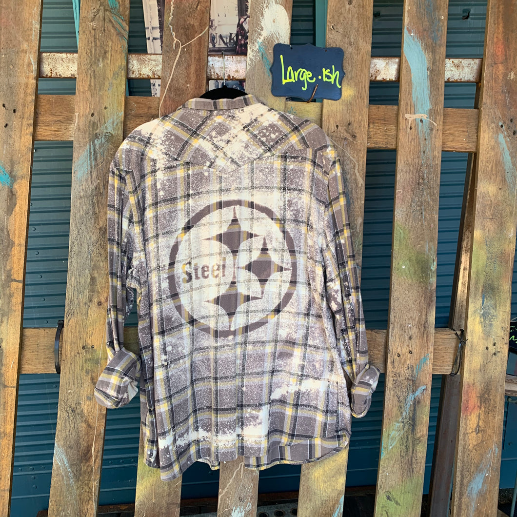 Large Steelers Shadow Flannel