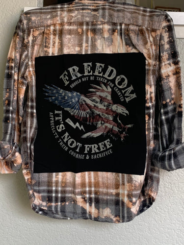 Small Freedom Patched Flannel