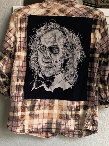 Medium Beetlejuice T-Patch Flannel