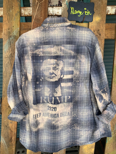XLarge President Trump shadow flannel