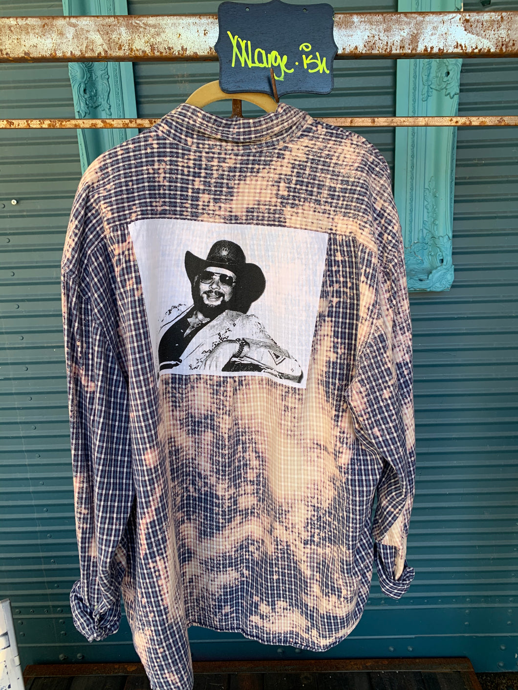 XXL Hank Williams Jr. Patch Flannel