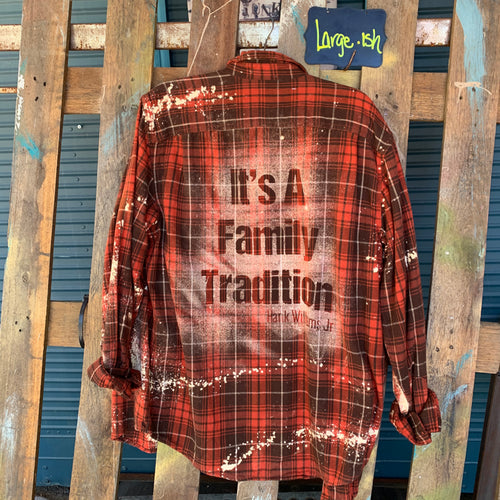 Large Family Tradition Shadow Flannel
