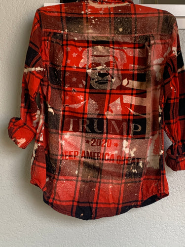 Medium President Trump shadow flannel