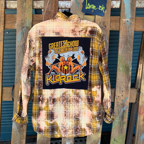 Large Kid Rock Patch Flannel featured
