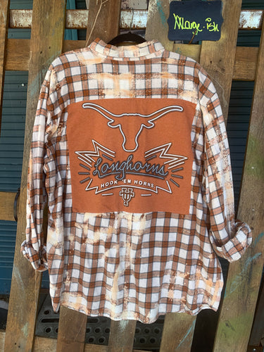 XXL Longhorns patch flannel