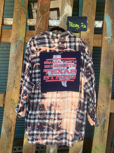 XXLarge Texas Strong patch flannel