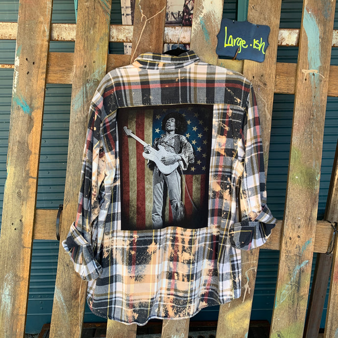 Large Jimi Patch Flannel featured