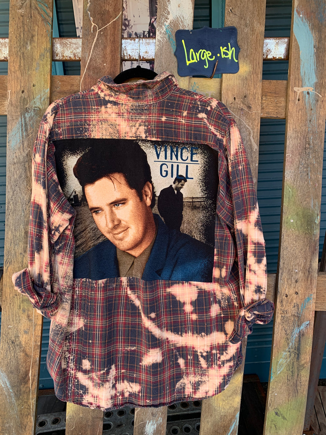 Large Vince Gill Patch Flannel