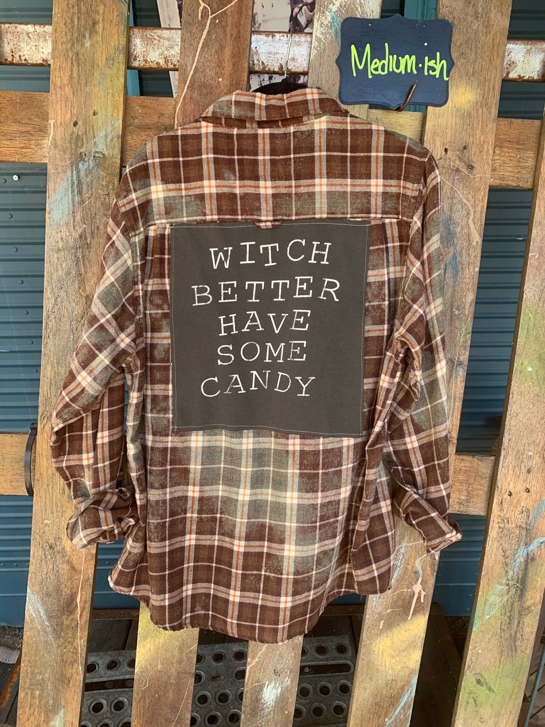 Medium Witch Patch Flannel