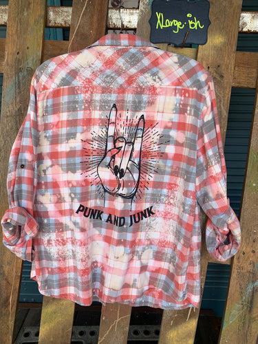 XLarge Punk and Junk silkscreened Flannel