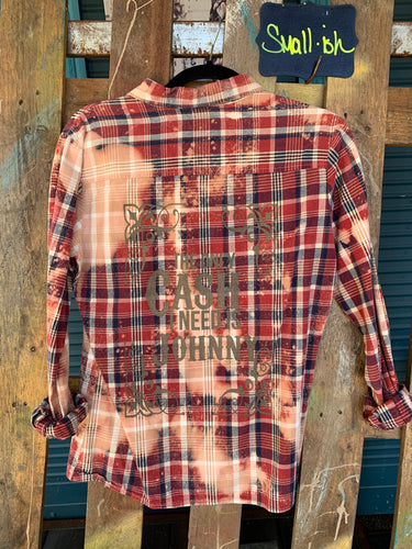 Small Cash Silkscreened Flannel