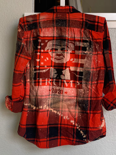 Medium President Trump 2020 shadow flannel