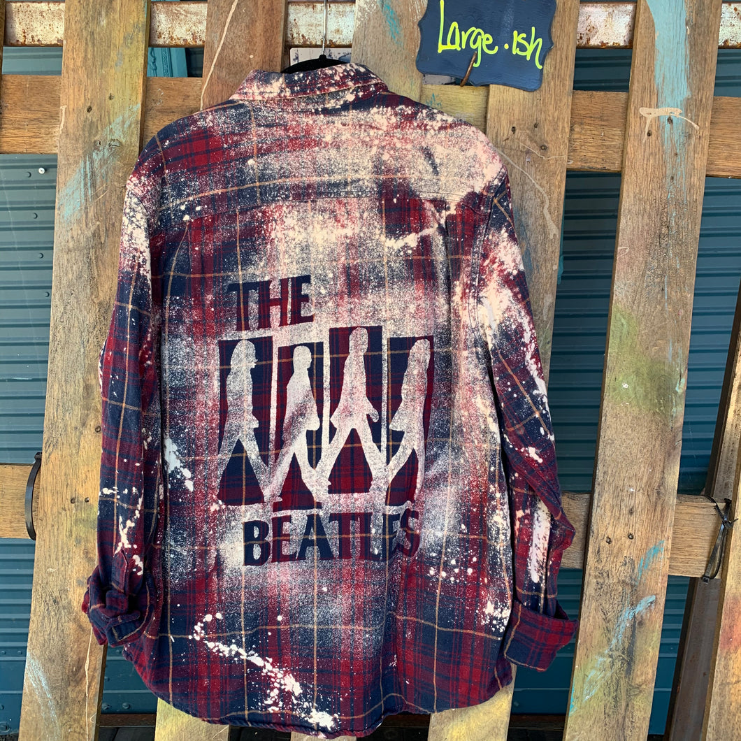 Large Beatles shadow flannel