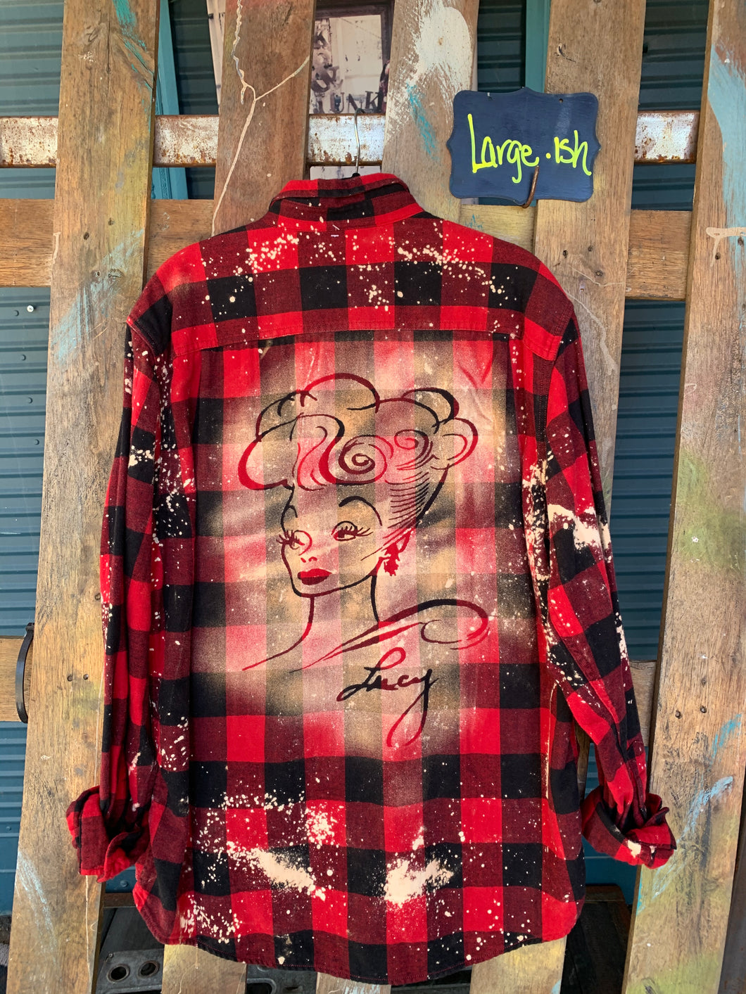 Large Lucy Shadow Flannel
